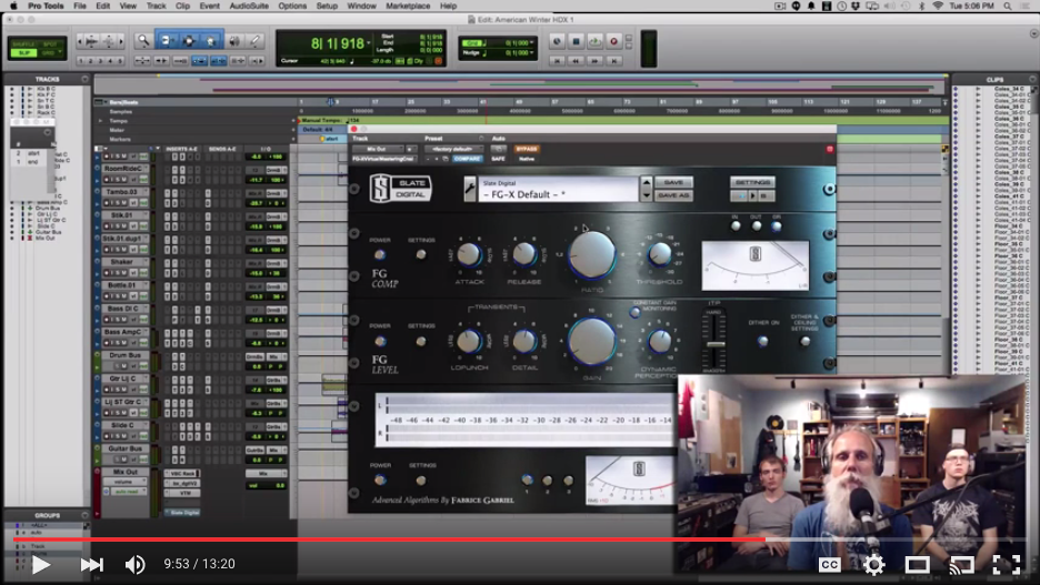 Stereo Master Bus Processing in Protools with Lij Shaw
