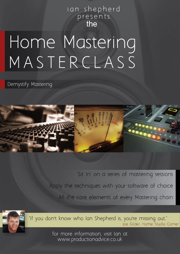 Home Mastering Masterclass