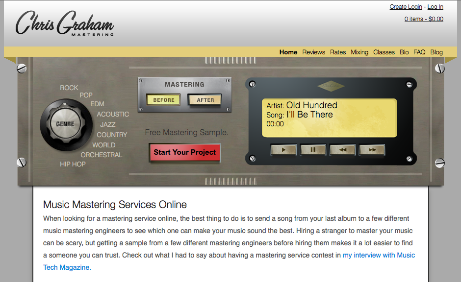 Chris Graham Mastering